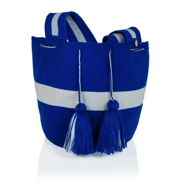 Tote Bags | Shop Women's Blue Tassel Tote Bag at Fashiontage | HB06