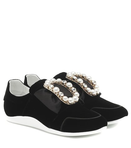 Sporty Viv' Bow velvet sneakers