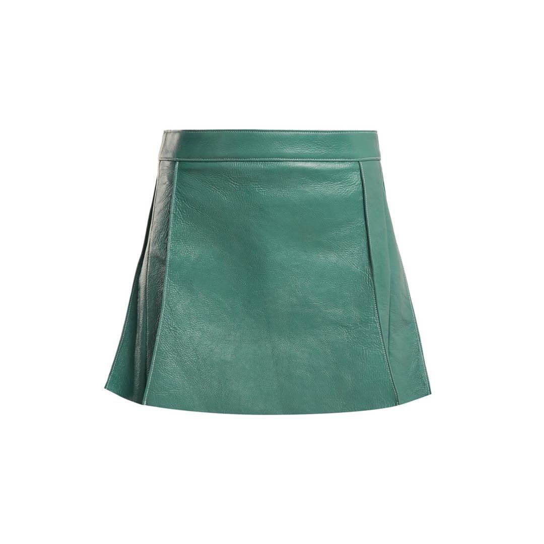 "AnOther Loves on Instagram: ""Leather for spring ✔️ by @chloe via @matchesfashion #anotherloves #love #leather #skirt #teal"""