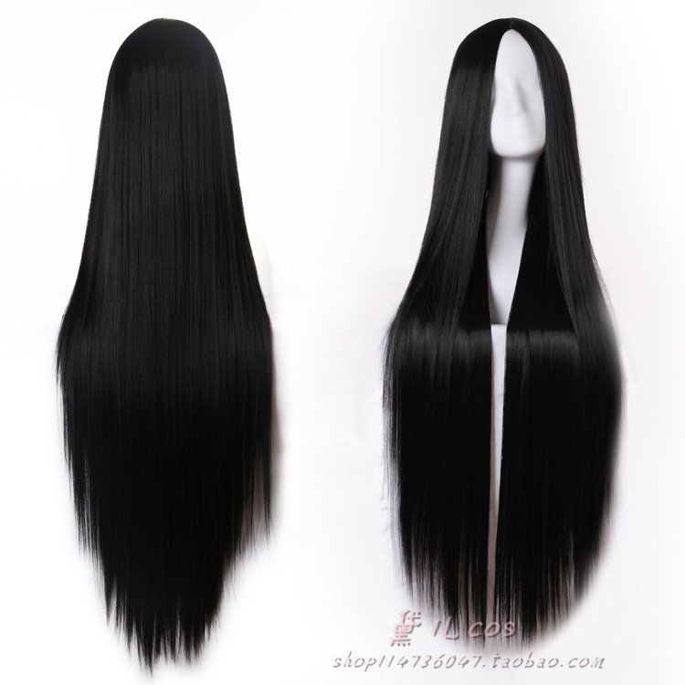High-Quality-80cm-100cm-120cm-Long-Black-Straight-Wig-Cosplay-Wigs-No-Bangs-Middle-Parting-Natural.jpg (750×750)