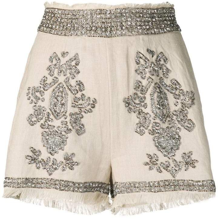 crystal embellished shorts