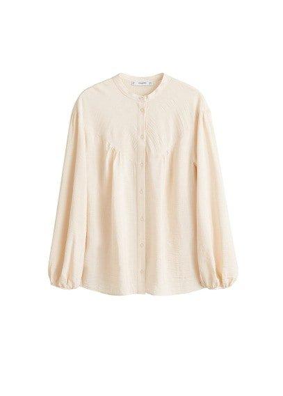 MANGO Flowy textured blouse