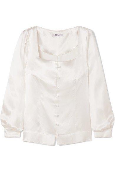 Deitas | Gaia silk-satin blouse | NET-A-PORTER.COM