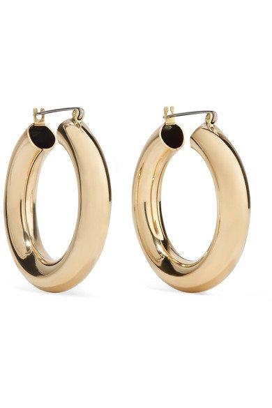 Laura Lombardi   Gold-tone hoop earrings   NET-A-PORTER.COM