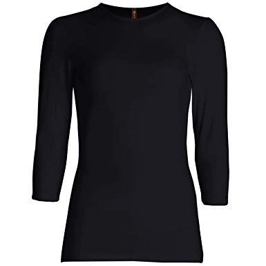 black 3/4 sleeve tshirt