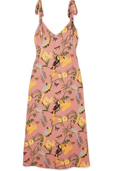 Reformation | Jade printed crepe midi dress | NET-A-PORTER.COM