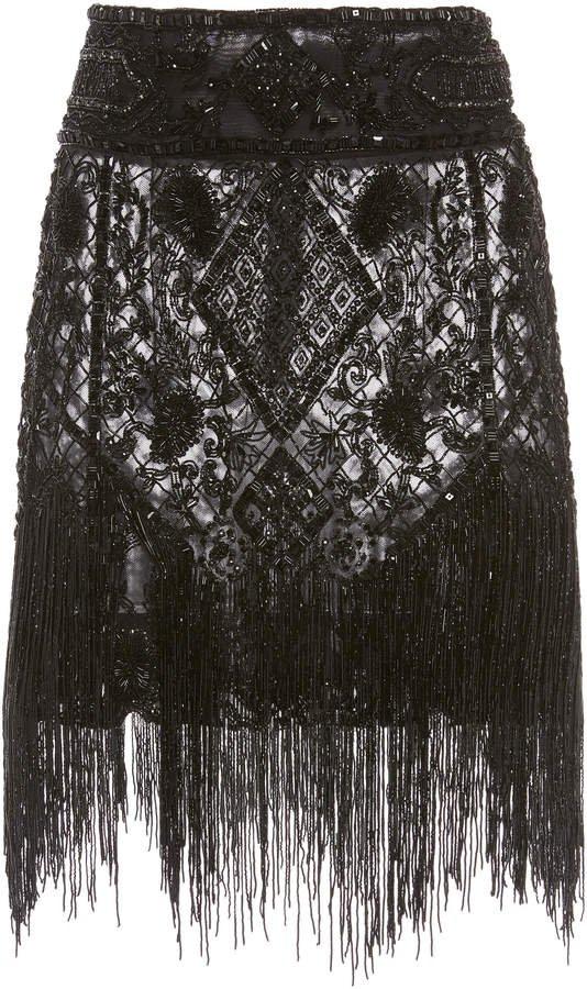 Dundas Embroidered Tulle Mini Skirt