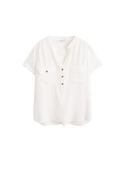 Violeta BY MANGO Welt pocket blouse