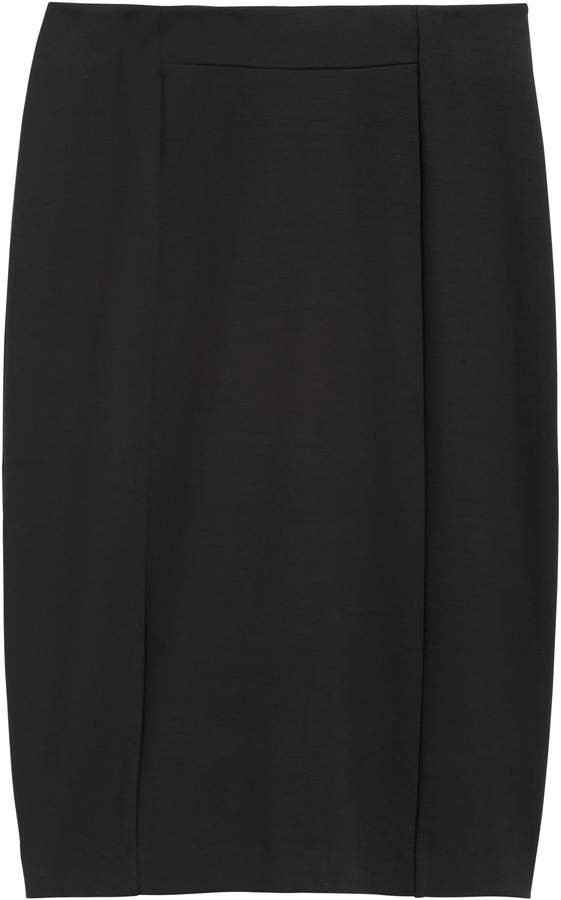 Ponte Pencil Skirt with Exposed Zip