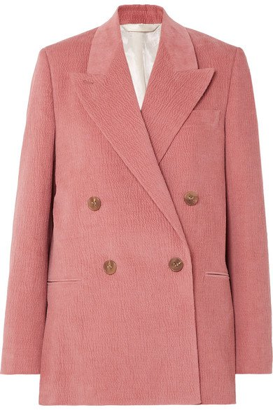 Acne Studios   Double-breasted cotton-blend corduroy blazer   NET-A-PORTER.COM