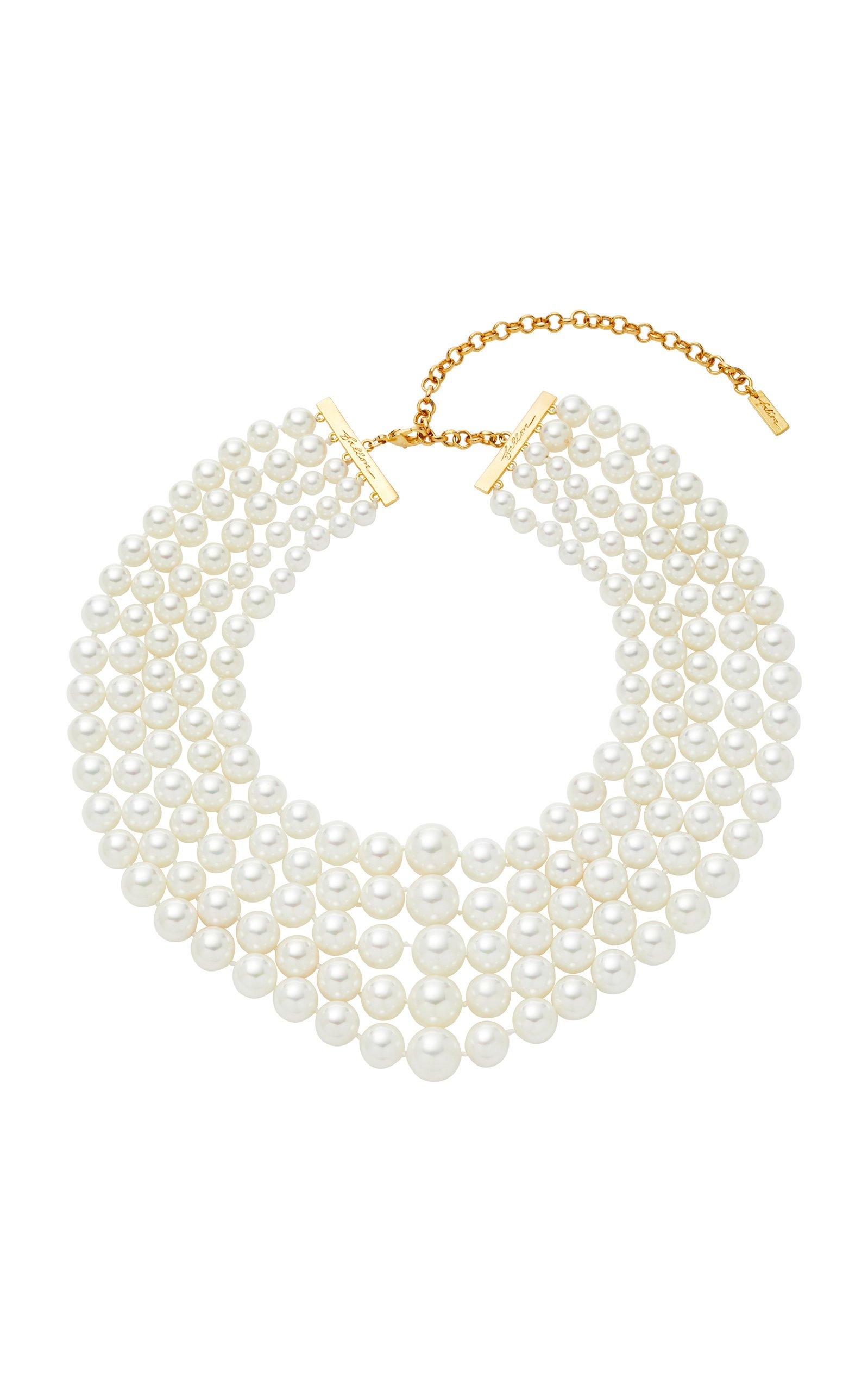 Faux Pearl Gold-Plated Choker by FALLON | Moda Operandi