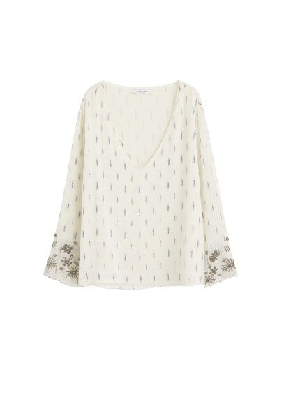 Violeta BY MANGO Sequins embroidered blouse