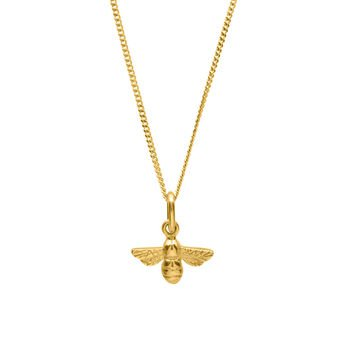 bumble bee necklace in solid gold by bianca jones jewellery | notonthehighstreet.com