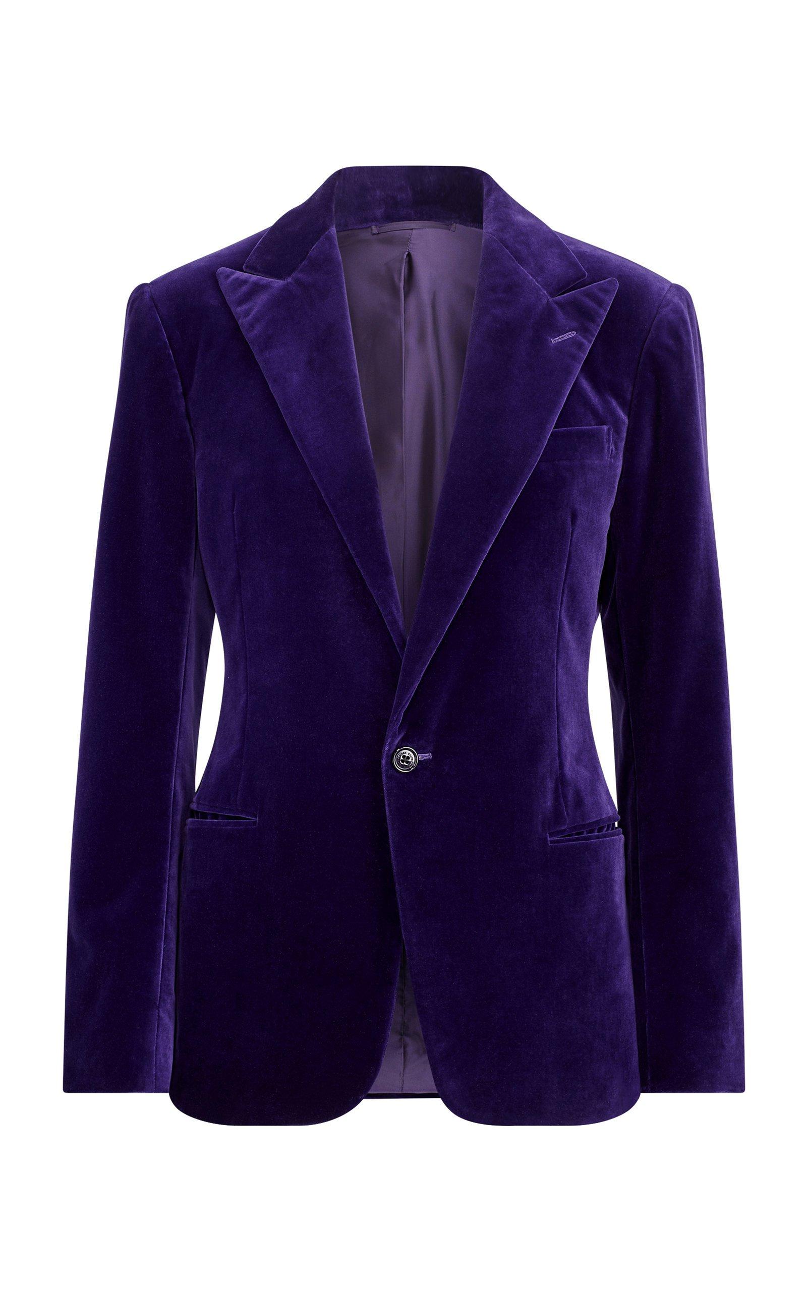 Ralph Lauren Fem Cotton Velvet Jacket Size: 8