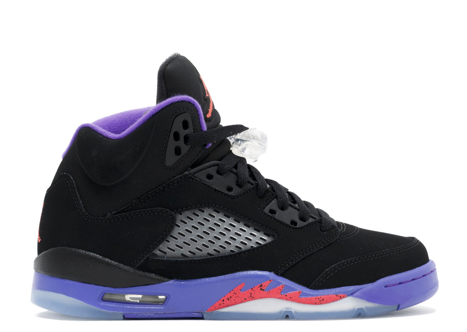 "Air Jordan 5 Retro Gg (gs) ""raptors"" - Air Jordan - 440892 017 - black/ember glow-fierce purple | Flight Club"