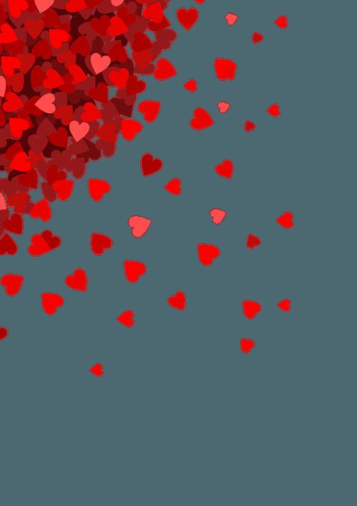 red corner hearts