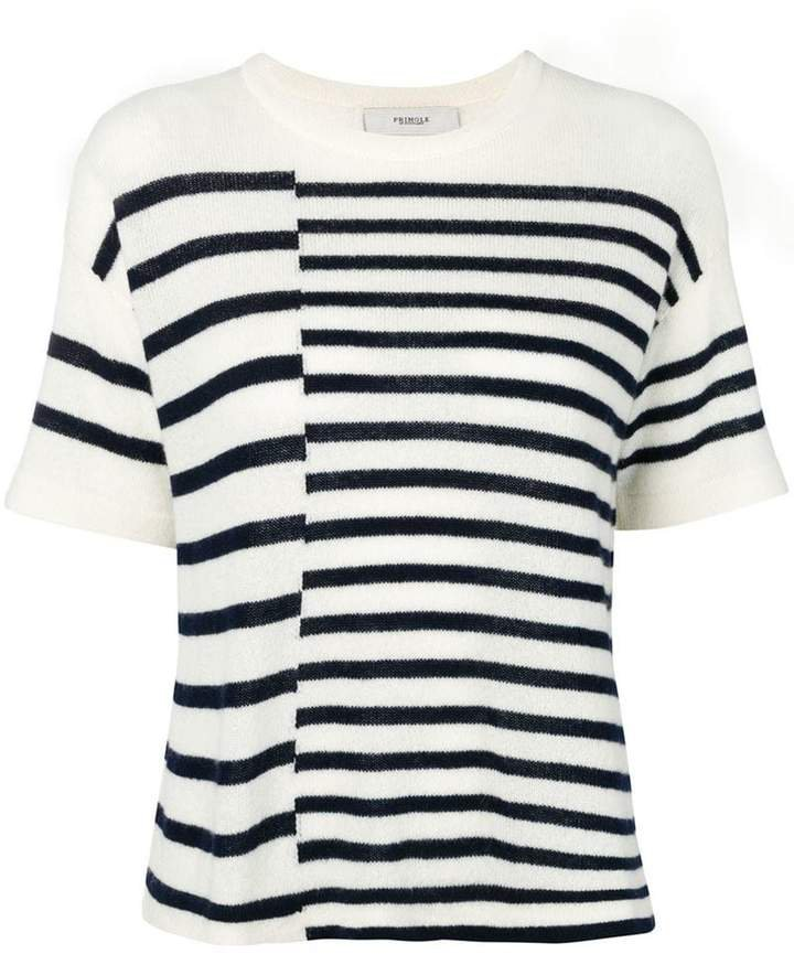 striped Cashmere T-shirt