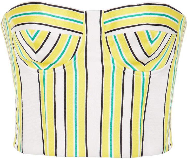 Summer Striped Bustier Top