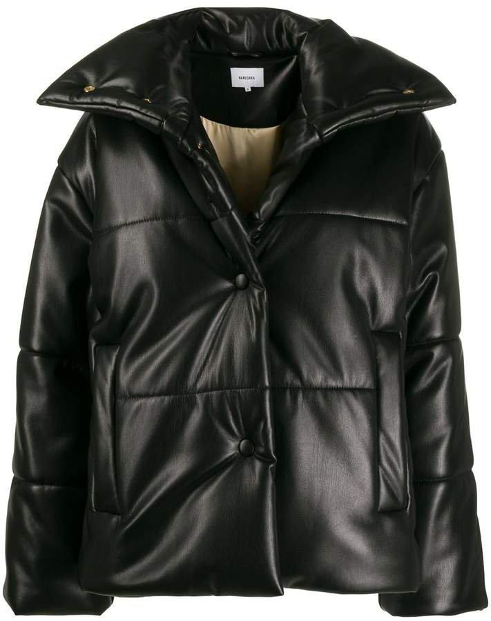 Hide oversized puffer jacket