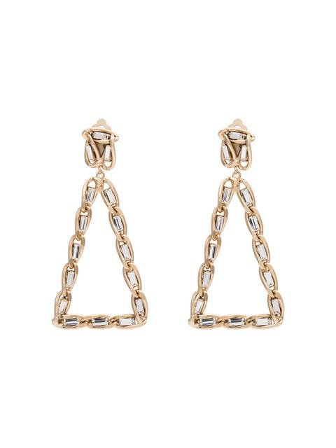 ROSANTICA gold tone crystal-embellished triangle earrings