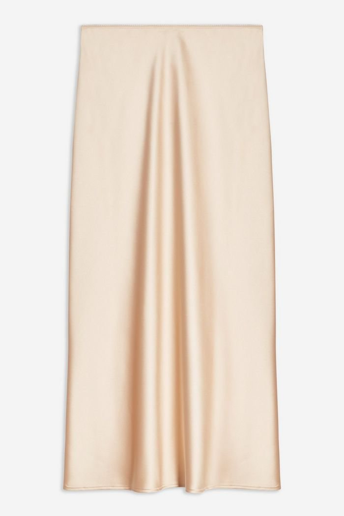 TALL Satin Bias Skirt | Topshop cream