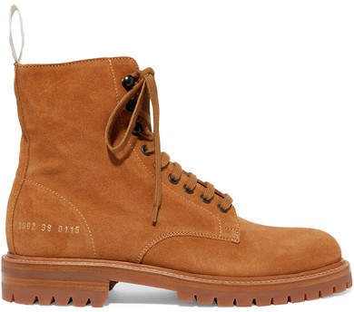 Combat Suede Ankle Boots - Tan