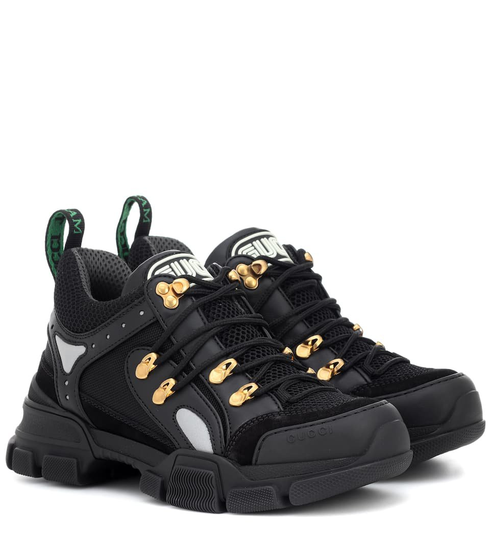 Flashtrek Leather Sneakers | Gucci - mytheresa.com