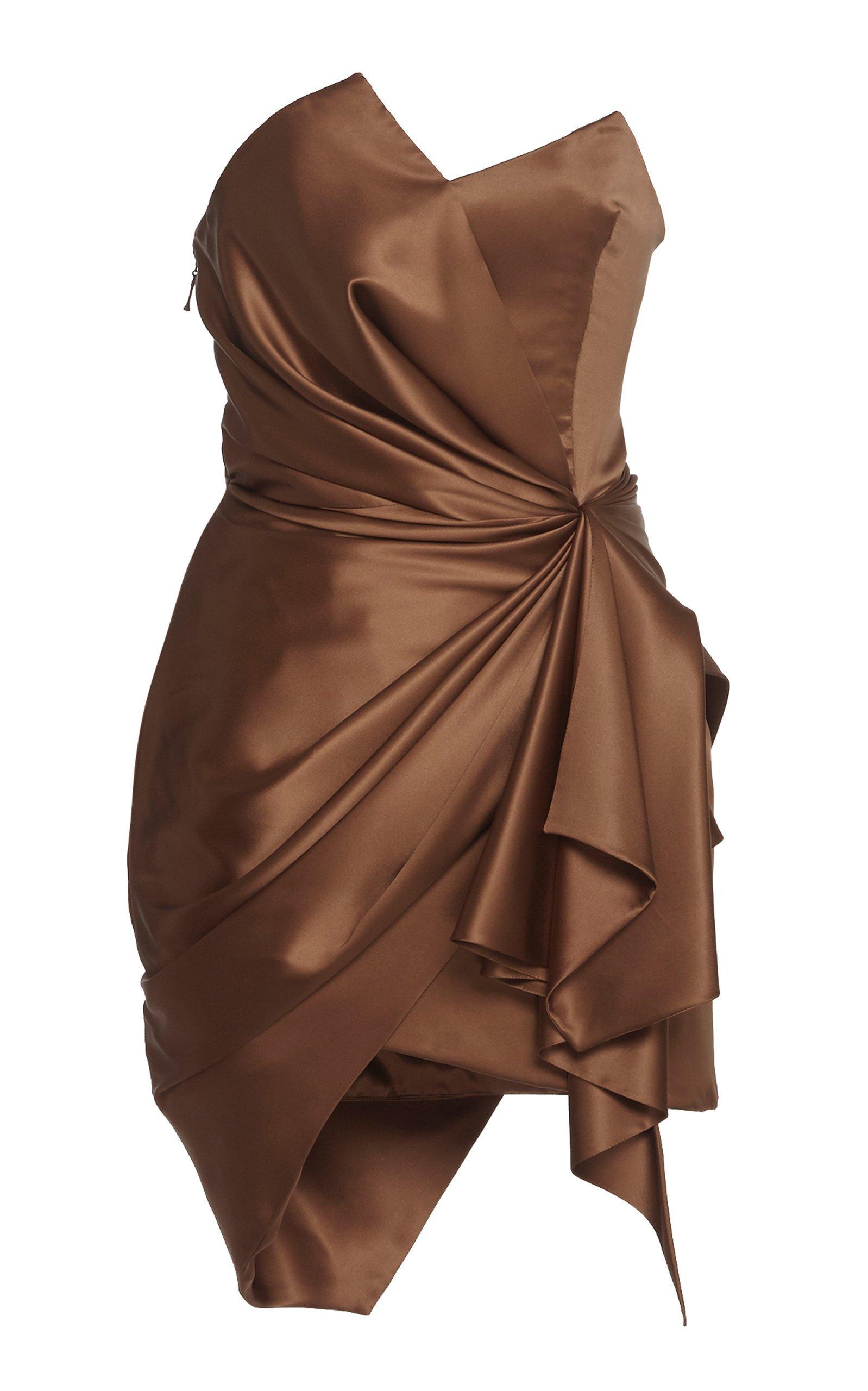 large_alexandre-vauthier-brown-strapless-satin-dress.jpg (1598×2560)