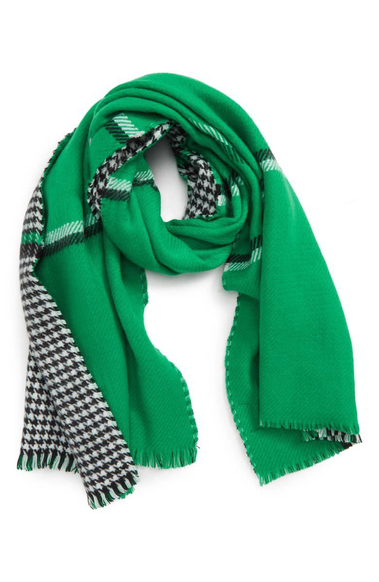Trouvé Double Sided Check Blanket Scarf | Nordstrom