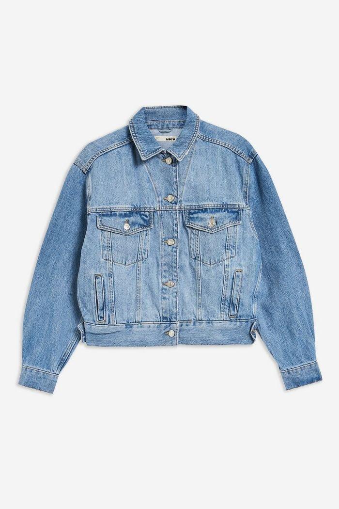 Oversized Blue Denim Jacket   Topshop