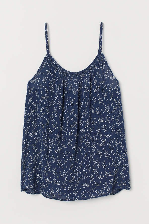 Crinkled Camisole Top - Blue