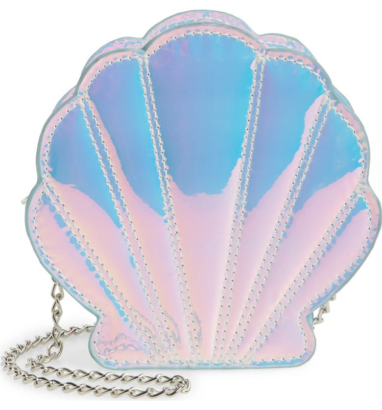 Capelli New York Iridescent Seashell Shoulder Bag (Girls) | Nordstrom