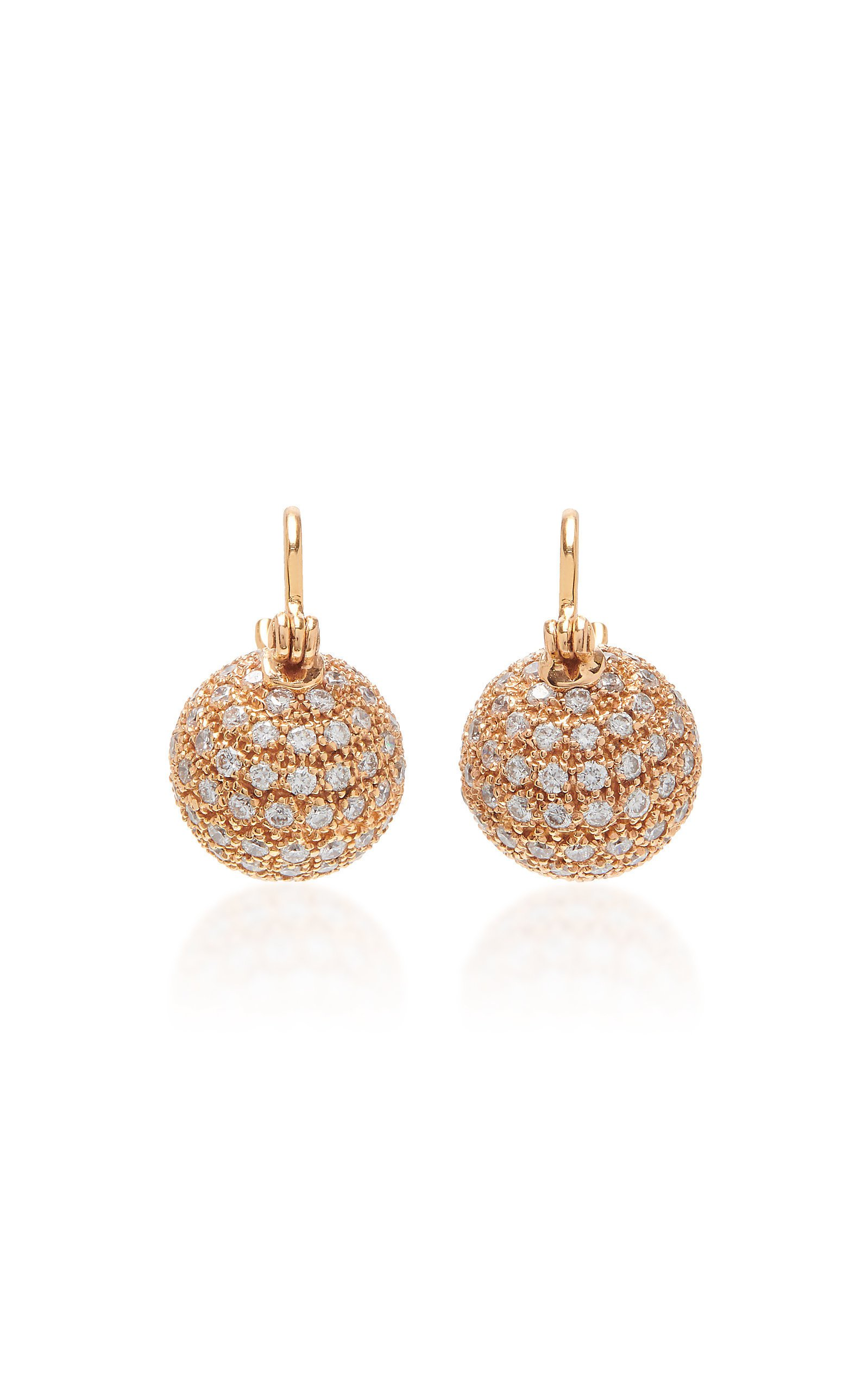 Parulina 18K Rose Gold And Diamond Earrings