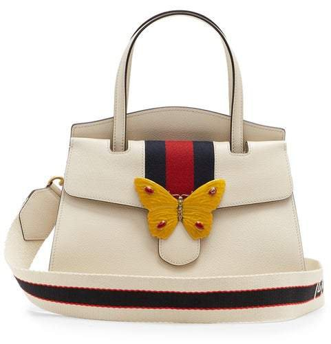 Guccitotem Grained Leather Bag - Womens - White Multi