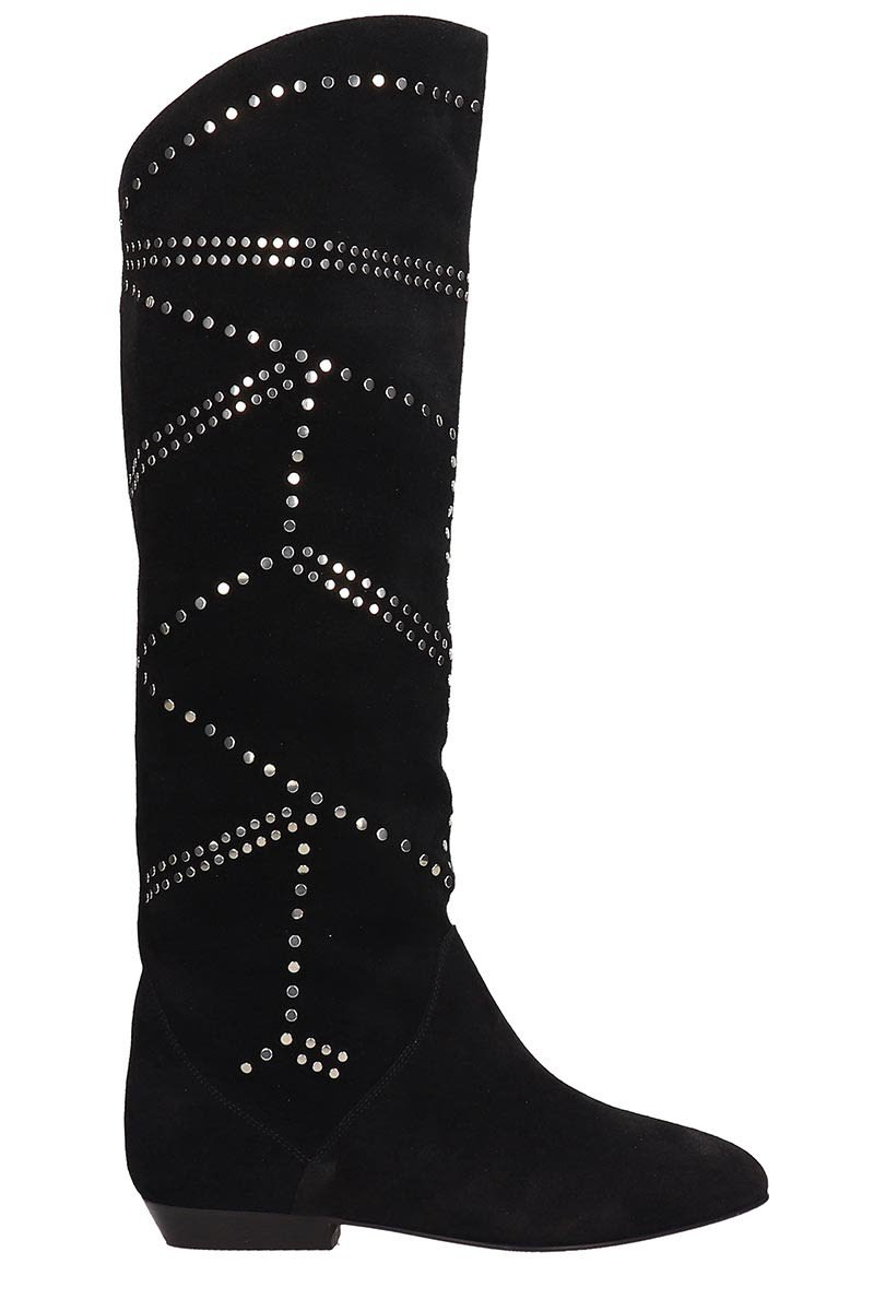 Isabel Marant Black Suede Sibby Boots