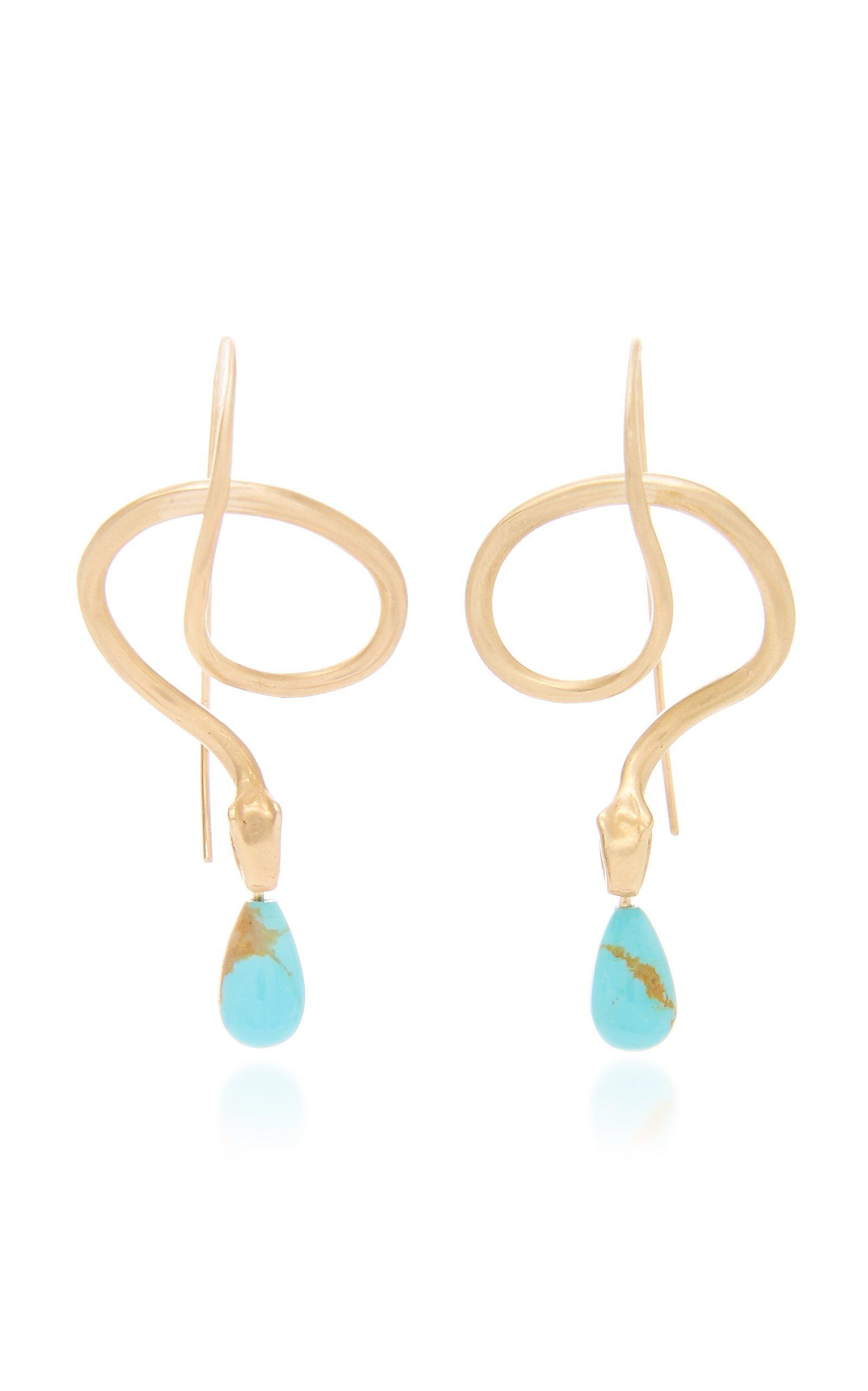 Annette Ferdinandsen Turquoise Serpent Earring