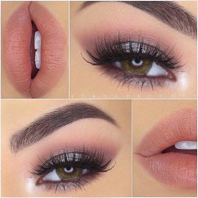 Soft smokey eye and pink lip