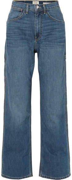 EVE Denim - Carolyn High-rise Straight-leg Jeans - Mid denim