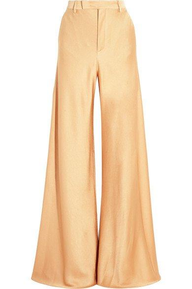 Etro Hammered-satin wide-leg pants