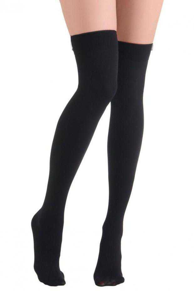 Knee-High Black Socks