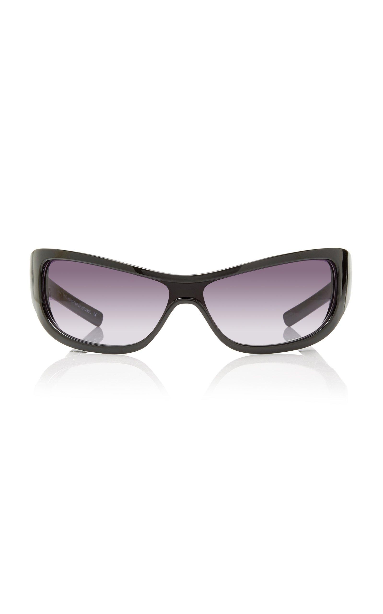 Adam Selman X Le Specs The Monster Acetate Square-Frame Sunglasses