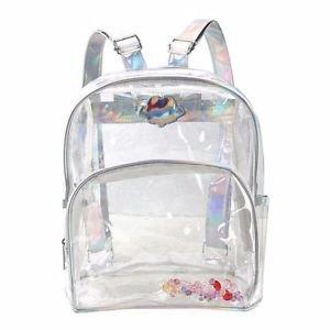 Fashion Girl Mini Clear Transparent Backpack Satchel Laser Shoulder Bag Rucks ZC 191466890745 | eBay