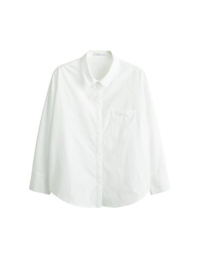 Violeta BY MANGO Chest-pocket cotton shirt