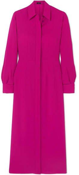 Turner Ribbed Silk Dress - Pink