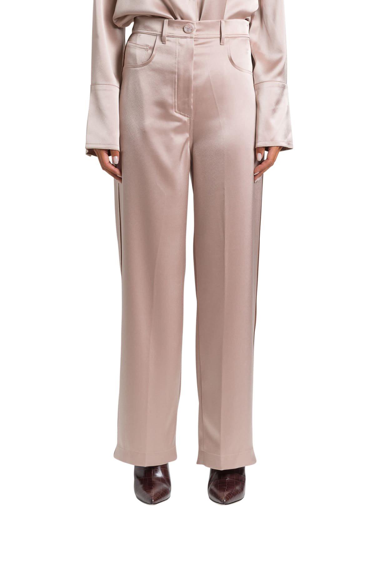 Nanushka Satin Wide-leg Trousers