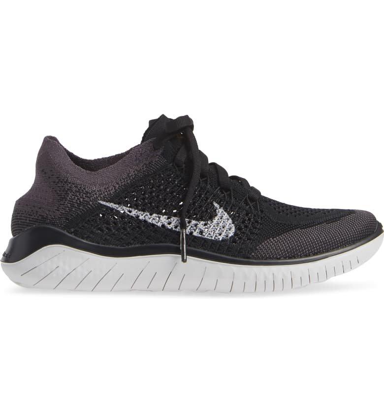 Nike Free RN Flyknit 2018 Running Shoe (Women) Black