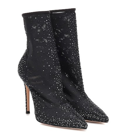 Aurora embellished tulle sock boots