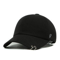 Black Line Twin Ring Ball Cap