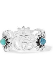 Gucci | Marmont silver-tone multi-stone earrings | NET-A-PORTER.COM
