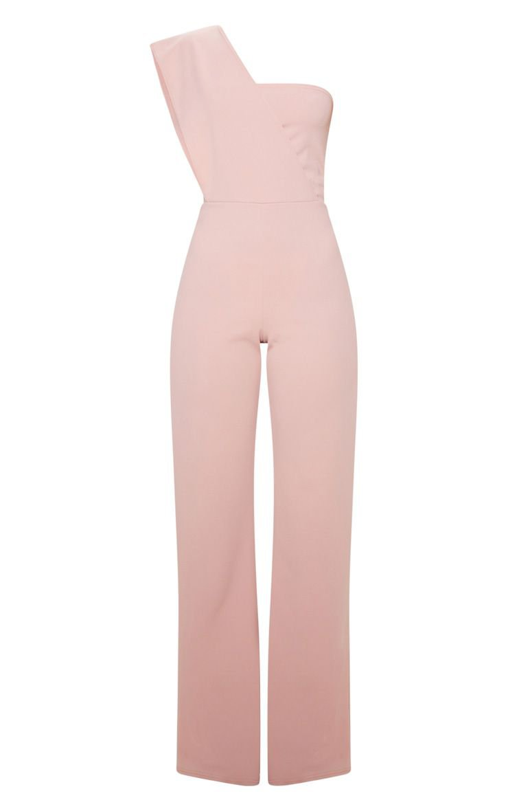 Rose Drape One Shoulder Jumpsuit | PrettyLittleThing USA